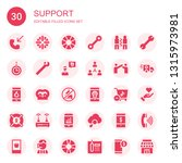 support icon set. collection of ... | Shutterstock .eps vector #1315973981