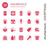 household icon set. collection... | Shutterstock .eps vector #1315974161