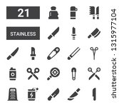 stainless icon set. collection... | Shutterstock .eps vector #1315977104