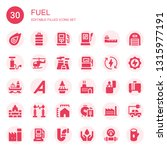 fuel icon set. collection of 30 ... | Shutterstock .eps vector #1315977191