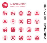 machinery icon set. collection... | Shutterstock .eps vector #1315977281