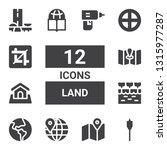 land icon set. collection of 12 ... | Shutterstock .eps vector #1315977287