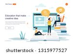 flat design concept of... | Shutterstock .eps vector #1315977527