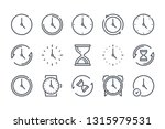 time related line icons. clock...