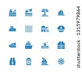yacht icon set. collection of... | Shutterstock .eps vector #1315979864