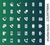 receiver icon set. collection... | Shutterstock .eps vector #1315979894