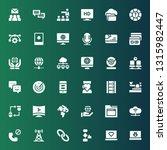 communication icon set.... | Shutterstock .eps vector #1315982447