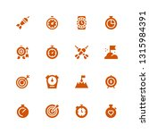 accurate icon set. collection...   Shutterstock .eps vector #1315984391