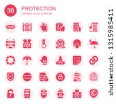 protection icon set. collection ... | Shutterstock .eps vector #1315985411