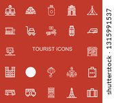 editable 22 tourist icons for... | Shutterstock .eps vector #1315991537