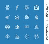 editable 16 cooperation icons... | Shutterstock .eps vector #1315991624