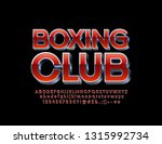 vector logotype boxing club... | Shutterstock .eps vector #1315992734
