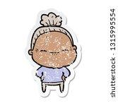 distressed sticker of a cartoon ... | Shutterstock .eps vector #1315995554
