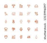 editable 25 branch icons for... | Shutterstock .eps vector #1315996097