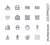 editable 16 stove icons for web ... | Shutterstock .eps vector #1315996217