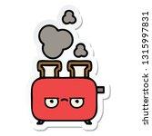 sticker of a cute cartoon of a... | Shutterstock .eps vector #1315997831