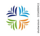 colorful teamwork logo | Shutterstock .eps vector #1316000411