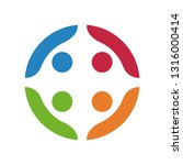 colorful teamwork logo | Shutterstock .eps vector #1316000414