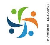colorful teamwork logo | Shutterstock .eps vector #1316000417
