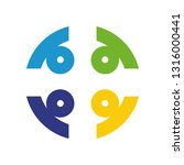 colorful teamwork logo | Shutterstock .eps vector #1316000441