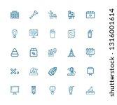 editable 25 poster icons for... | Shutterstock .eps vector #1316001614