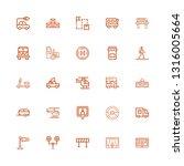 editable 25 traffic icons for... | Shutterstock .eps vector #1316005664