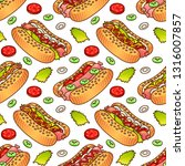 food seamless vector pattern... | Shutterstock .eps vector #1316007857