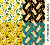 food seamless vector pattern... | Shutterstock .eps vector #1316008361