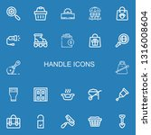 editable 22 handle icons for... | Shutterstock .eps vector #1316008604