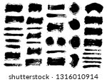 brush strokes. vector... | Shutterstock .eps vector #1316010914