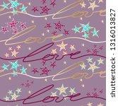 seamless fashion gold pattern.... | Shutterstock .eps vector #1316013827