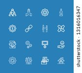 editable 16 cooperation icons... | Shutterstock .eps vector #1316016347