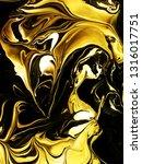 marbled golden abstract... | Shutterstock . vector #1316017751