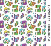 seamless pattern with fantastic ... | Shutterstock .eps vector #131602145