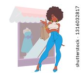 fashion girl with bags in the... | Shutterstock .eps vector #1316032817