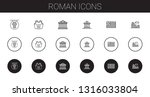 roman icons set. collection of... | Shutterstock .eps vector #1316033804