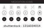 medication icons set.... | Shutterstock .eps vector #1316034014