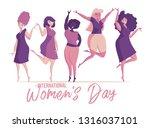 isolated women. international... | Shutterstock .eps vector #1316037101