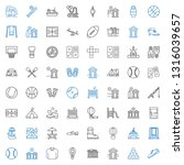 recreation icons set.... | Shutterstock .eps vector #1316039657