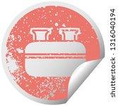 distressed circular peeling... | Shutterstock .eps vector #1316040194