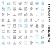 mark icons set. collection of... | Shutterstock .eps vector #1316043611