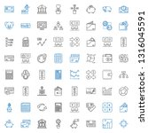 economy icons set. collection... | Shutterstock .eps vector #1316045591