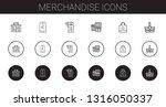 merchandise icons set.... | Shutterstock .eps vector #1316050337