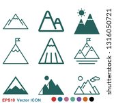 mountain icon logo ... | Shutterstock .eps vector #1316050721