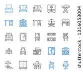 chair icons set. collection of... | Shutterstock .eps vector #1316053004