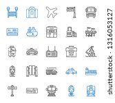 passenger icons set. collection ... | Shutterstock .eps vector #1316053127