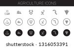 agriculture icons set.... | Shutterstock .eps vector #1316053391