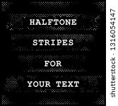 halftone bands with free space... | Shutterstock .eps vector #1316054147