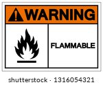 warning flammable symbol sign ... | Shutterstock .eps vector #1316054321