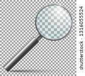 realistic magnifier. magnifying ... | Shutterstock .eps vector #1316055524
